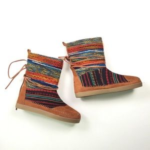 Toms Womens Brown Color Desert Boots 10 SR1